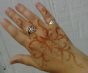 Henna tattoo on Phaedra's hand