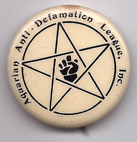 Aquarian Anti-Defamation League Button