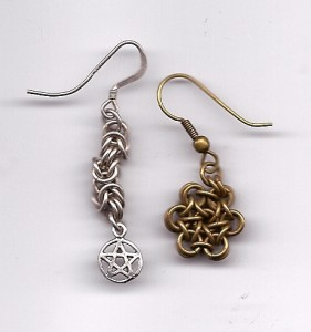 Earrings by Enchanted Chains